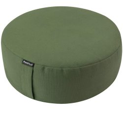 REEHUT Zafu Yoga Meditation Bolster Pillow Cushion Filled with Buckwheat