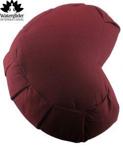 Zafu Crescent Meditation Pillow with USA Buckwheat Hull Fill